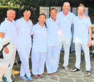 équipe blue tree massage pour entreprise var