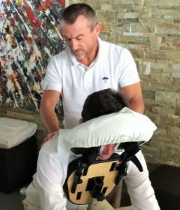 massage assis pour événement yachting monaco