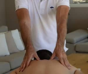 accupressure massage for back pain cannes
