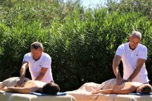 massage couple à domicile