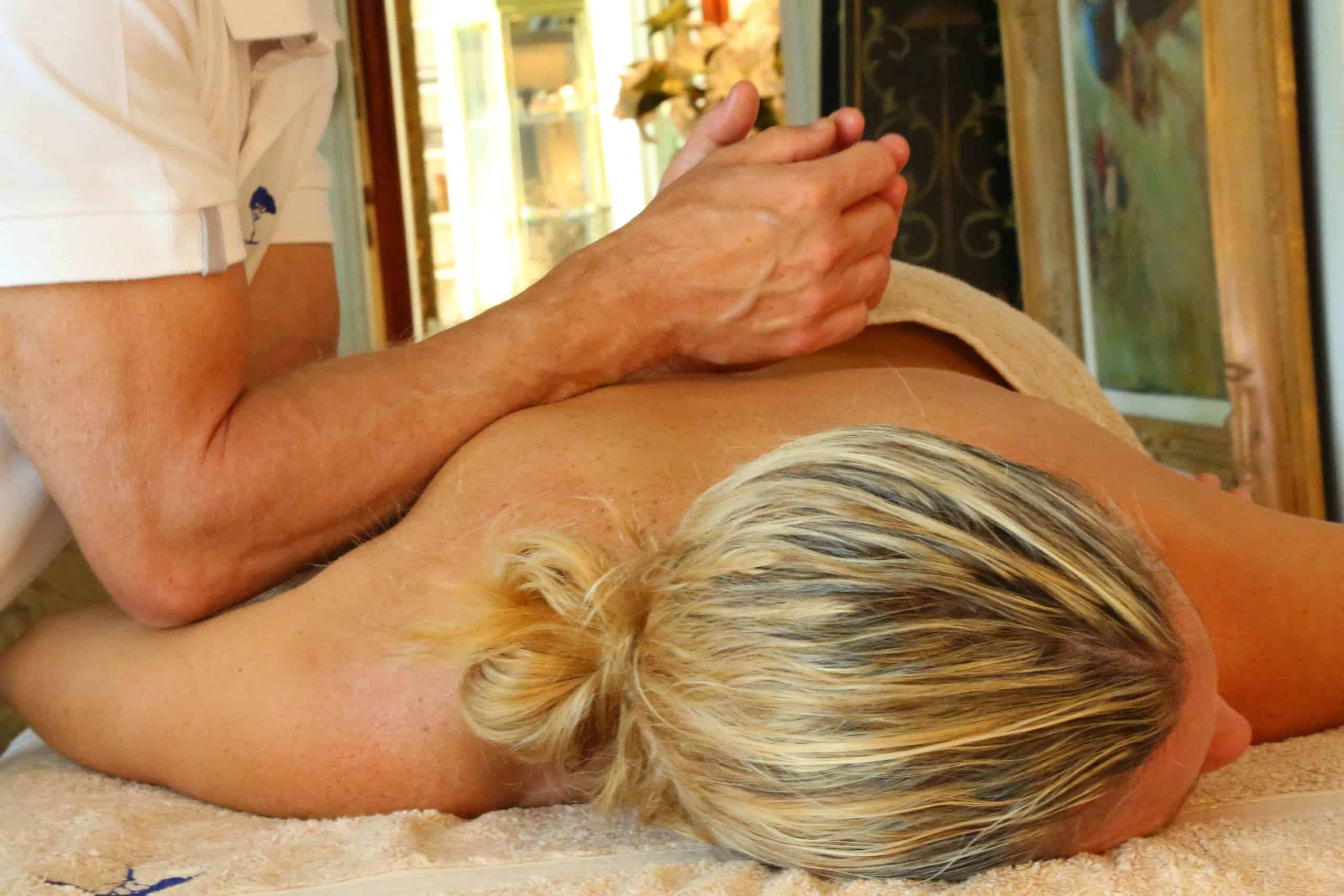 deep tissue back massage monaco blue tree massage